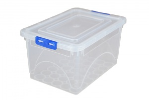 4.5 Litre Plastic Storage Boxes with Clip on Lids